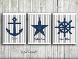 Pictures For Bathroom Wall Decor by Nautical Themed Bathroom Dact Us