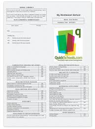preschool report card template skills based report cards for montessori schools school