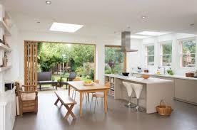 extension kitchen ideas bifolds with pillar support kitchen kitchens