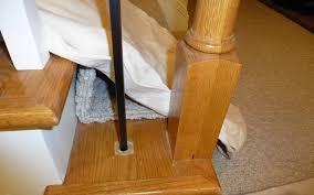 replacing wooden stair balusters spindles with wrought iron