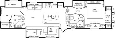 Fifth Wheel Floor Plans Continental Coach 43 U0027 Double Bedroom Floorplans Trailer Travail