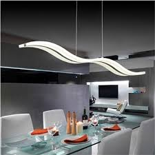 luminaire cuisine pas cher suspension led en forme de vague acrylique design a moderne
