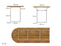 fabriquer une table haute de cuisine hauteur table bar pour cuisine hauteur bar cuisine plan pour hauteur