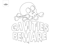 Printable Halloween Coloring Pages by Diy Dental Themed