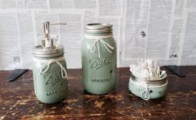 Mason Jar Bathroom Decor Mason Jar Bathroom Caddy With Mason Jars And Tissue Box Cover