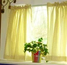 Blue And Yellow Kitchen Curtains Decorating Yellow And White Kitchen Curtains Endearing Yellow And White