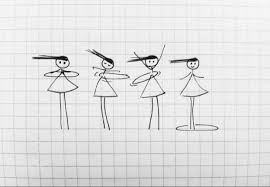 a simple form of happy 10 stick figure drawings that will make