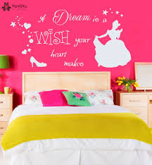 compare prices on wall stickers cinderella online shopping buy princess cartoon girls room wall decal quotes dream is wish your heart makes wall sticker cinderella