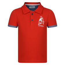 logo lamborghini lamborghini baby boys red polo shirt with embroidered logo
