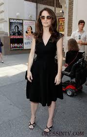 v neck cap sleeves kristin davis little black dress and the