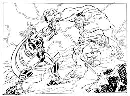 really liked this sketch the incredible hulk fighting thor bebo