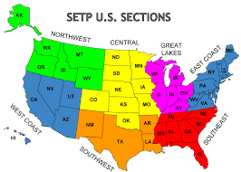 States In United States Map by Map Of Setp U S Sections Setp Sections