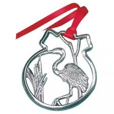 blue heron ornament by salisbury pewter silver and pewter gifts
