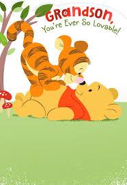Winnie The Pooh Invitation Cards Winnie The Pooh Birthday Card For Grandson Greeting Cards Hallmark