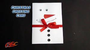 diy snowman christmas greeting card how to make jk easy craft