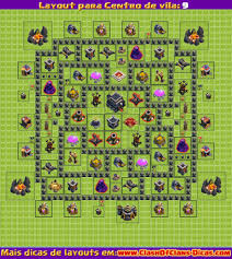 layout vila nivel 9 clash of clans dica layout clash of clans builder cv 9 clash of clans dicas