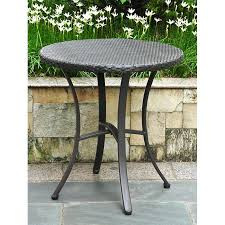 Patio Bistro Table Barcelona Patio Bistro Set Table Black Antique Wicker