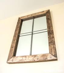 Window Mirror Decor by Rustic Window Mirror U2013 Amlvideo Com