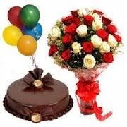 deliver birthday cake and balloons online gift delivery in mumbai midnight delivery cake and flowers