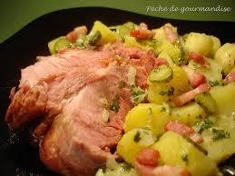 cuisiner la palette de porc la schiffala palette de porc fumée et sa salade de pommes de