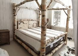 bed design birch log canopy stauffer woodworking and with