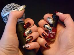christmas monkey nail art
