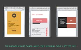 business card templates for word on the mac app store