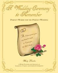 a wedding ceremony to remember words for the