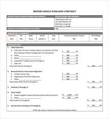 sample vehicle purchase agreement 9 documents in pdf
