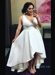 h1040 plus size simple high low summer wedding dresses
