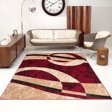 teppich für wohnzimmer designer teppich wohnzimmer teppich sch n muster in rot beige