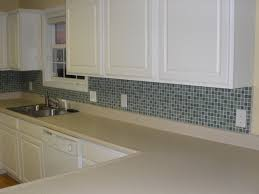 beige linear glass mosaic tile kitchen backsplash contemporary