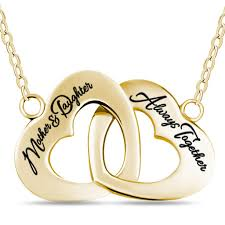 gold mother necklace images Mother daughter necklace 925 sterling silver 14k gold plated jpg