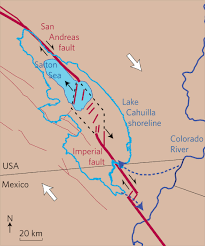 Map Fault Lines United States by Gc6ae2w The Great California Rift Valley Earthcache In