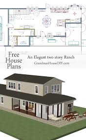 free house plan an elegant two story ranch grandmas house diy free house plan of an elegant two story ranch 1400 square feet with 2 3