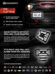 amazon com the platypus license plate mount for porsche 911 993