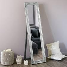 miroir de chambre sur pied miroir psyché argent h 164 cm miroir psyché psyché et miroirs