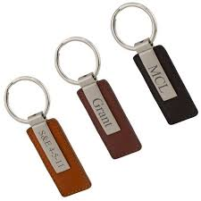 personalized keychain gifts modern leather key chain