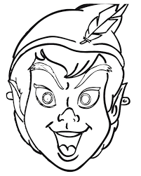 free printable halloween masks kids peter pan mask peter