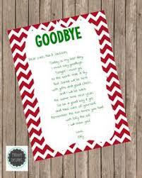 elf on the shelf goodbye letter christmas pinterest elves