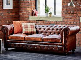 Small Leather Chesterfield Sofa Awesome Chesterfield Sofa Near Window In The Living Room With