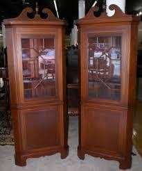 antique corner cabinet mahogany corner cabinet