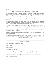 Statutory Durable Power Of Attorney by Free Maryland Power Of Attorney Forms Word Pdf Eforms U2013 Free