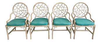 Vintage Outdoor Folding Chairs Vintage Mcguire Cracked Ice Rattan Chairs Set Of 4 Chairish