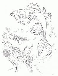 2012 the little mermaid coloring pages