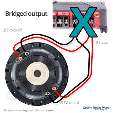 subwoofer impedance and amplifier output quality mobile video blog