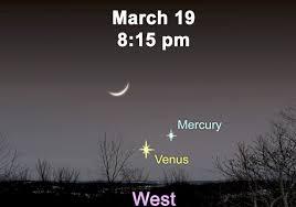 stargazing venus mercury and the crescent moon pittsburgh post