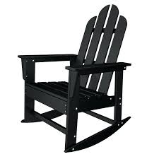 Metal Patio Rocking Chairs Black Rocking Chair Outdoor Long Island Recycled Plastic Rocking