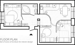 architectural plan architectural plan of a house layout of the apartment top view