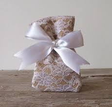 lace favor bags rustic favor bags 50 pc burlap favor bags lace favor bag for